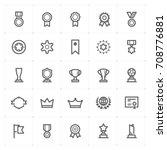 mini icon set   award icon... | Shutterstock .eps vector #708776881