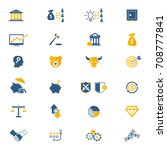 financial investment icon set | Shutterstock .eps vector #708777841