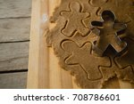 high angle view of gingerbread... | Shutterstock . vector #708786601