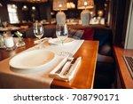 wooden design in classic... | Shutterstock . vector #708790171