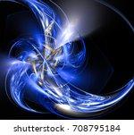 Fractal Blue Spinning Spinner