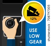 use low gear manual... | Shutterstock .eps vector #708797305