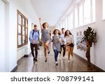 teenage students in high school ... | Shutterstock . vector #708799141