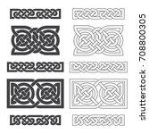 vector celtic horizontal knot.... | Shutterstock .eps vector #708800305