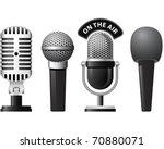 set of retro and modern... | Shutterstock .eps vector #70880071
