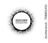 vector abstract halftone circle ... | Shutterstock .eps vector #708801451