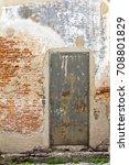 image of old door  brick wall... | Shutterstock . vector #708801829