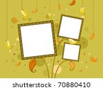 autumn themed frame with... | Shutterstock .eps vector #70880410