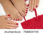 Red French Manicure And...