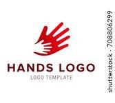 hand to hand logo. vector... | Shutterstock .eps vector #708806299
