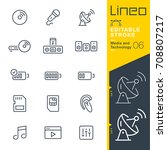 lineo editable stroke   media... | Shutterstock .eps vector #708807217