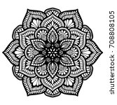 mandalas for coloring book.... | Shutterstock .eps vector #708808105