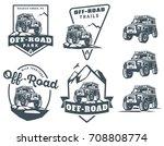 set of off road suv car... | Shutterstock . vector #708808774