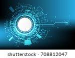 vector digital circuit... | Shutterstock .eps vector #708812047
