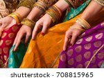 bollywood dancers are holding... | Shutterstock . vector #708815965