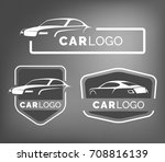 set of modern car emblems ... | Shutterstock . vector #708816139