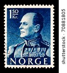 norway   circa 1970s  a stamp... | Shutterstock . vector #70881805