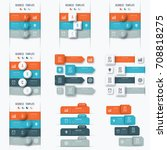 set with infographics. data and ... | Shutterstock .eps vector #708818275