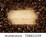 coffee beans for background | Shutterstock . vector #708821239