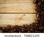 coffee beans for background | Shutterstock . vector #708821245