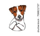 jack russell terrier. the... | Shutterstock .eps vector #708821737