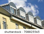 standing seam metal roof with... | Shutterstock . vector #708825565