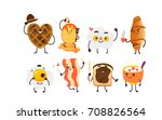 set of breakfast characters  ... | Shutterstock .eps vector #708826564