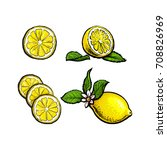 vector sketch cartoon colorful... | Shutterstock .eps vector #708826969