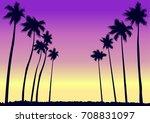 palms in miami | Shutterstock .eps vector #708831097