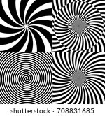 black and white hypnotic... | Shutterstock . vector #708831685