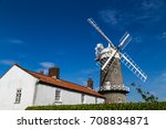 beautifully restored corn mill... | Shutterstock . vector #708834871