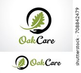 oak care logo template design... | Shutterstock .eps vector #708842479