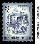 austria   circa 1975 a stamp... | Shutterstock . vector #70885087