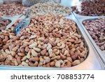 roasted cashew at city farmers... | Shutterstock . vector #708853774