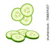hamburger ingredient. sliced...   Shutterstock .eps vector #708859357