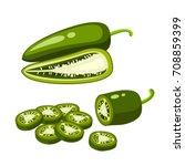 hamburger ingredient. sliced... | Shutterstock .eps vector #708859399