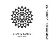 Abstract Geometric Flower Logo...