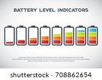 illustration of battery level... | Shutterstock .eps vector #708862654