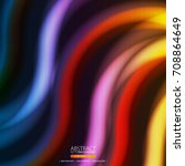 neon abstract background | Shutterstock .eps vector #708864649