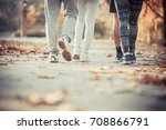 group of friends in sportswear... | Shutterstock . vector #708866791