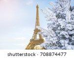 eiffel tower is the main... | Shutterstock . vector #708874477