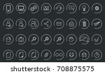 vector icons web and mobile.... | Shutterstock .eps vector #708875575
