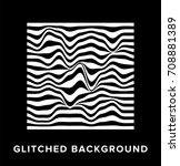 screen glitch texture. abstract ... | Shutterstock .eps vector #708881389