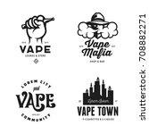 Vape Shop Labels Emblems Badge...