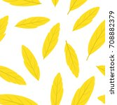 yellow autumn leaves seamless... | Shutterstock .eps vector #708882379