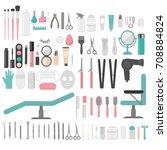 flat design elements of...   Shutterstock .eps vector #708884824