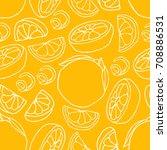 Orange Vector illustration. Doodle style. Design icon, print, logo, poster, symbol, decor, textile, paper, card.