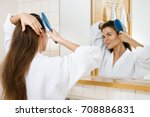 young and beautiful woman... | Shutterstock . vector #708886831