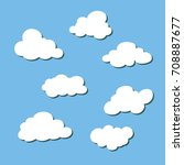 cloud icon set   Shutterstock .eps vector #708887677