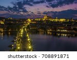 prague castle and charles... | Shutterstock . vector #708891871